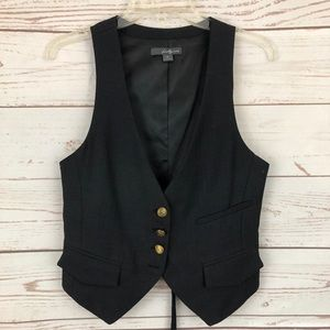 Forever 21 Chevron Military Button Vest